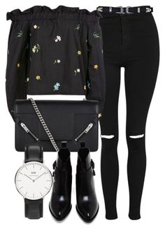 Untitled #6659 by laurenmboot on Polyvore featuring Topshop, Alexander Wang, Yves Saint Laurent and Daniel Wellington