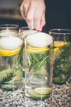 Tischdeko mit Zitronen - DIY Tischdeko Ideen für den Sommer #massagetablesdiy