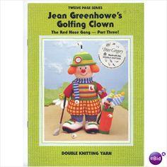 Jean Greenhowes golfing clowns knitting pattern booklet on eBid United Kingdom £3.00