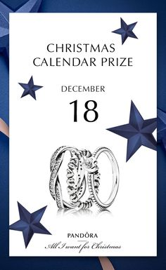 Try your luck this 18th of December for a real treat #PANDORAchristmascontest #PANDORAring | www.goldcasters.com
