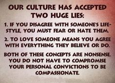 To be compassionate, you don't have to agree