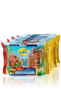 Saubär 4er Sparpack Feuchte Toilettentücher, Kirsch-Banane - dm-markt