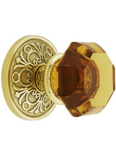 Wish List: Lancaster Privacy 2 3/8 Door Set With Amber Crystal Glass Knobs | House of Antique Hardware