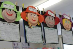 Student Self-Portraits w Paper Plates & Explorer Helmets, from Teacher Bits and Bobs