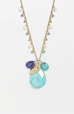 Cara Long Cluster Pendant Necklace | Nordstrom