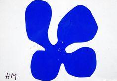 vjeranski:  Henri MatisseBlue Flower, 1952