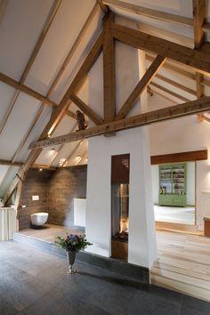 Doorkijkhaard Gazebo, Pergola, Attic Design, A Frame House, Loft Style, Ramen, Interior And Exterior, Bungalow, Outdoor Structures
