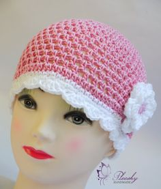 Pink 100cotton Crochet Infant Baby Kids Girl by PlooshyBoutique, £8.50