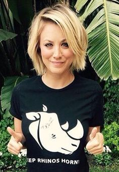 Kaley Cuoco | Bob Ugh I love her hair!! I need a skinny face.