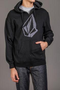 Volcom Rudimentary Basic Zip Fleece Black