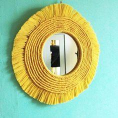 MACRAMÉ в Instagram: «Солнышко в доме ☀️ Макраме зеркало сделано на заказ #макраме #макрамезеркало #бохо #бохозеркало #боходекор #macramemirror #macramedecor…» Scandinavian Style Home, Scandi Home, Macrame Earrings, Macrame Bag, Macrame Curtain, Natural Materials, Mood, Mirror, Home Decor