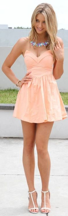 Summer Pink Little Dress - Best street fashion inspiration & just looks