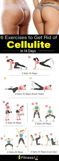 6 Exercises to Help You Get Rid of Cellulite in 14 Days #fitness #beauty #health #fat #diy #CelluliteExcercises