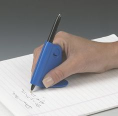 Ableware Steady Write Writing Instrument by Ableware. $9.99. Designed to help improve the handwriting of people with arthritis, Parkinson's or other hand limitations.  Triangular base balances and guides the hand as you write to smooth out shaky penmanship. Black ink. Refills can be purchased separately