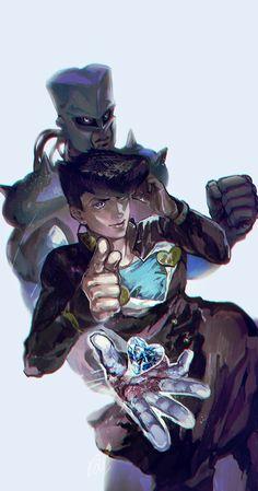 JoJo`s Bizarre Adventure Higashikata Josuke Jojo's Bizarre Adventure, Jojo's Adventure, Manga Anime, Anime Art, Johnny Joestar, Jotaro Kujo, Jojo Memes, Otaku, Jojo Bizarre