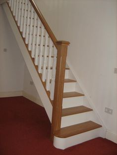 Oak And White Staircase With White Spindles. Would Painting Just The Risers  Help As An