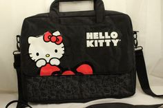 Hello Kitty Laptop Computer Case Bag Padded with Shouler Strap VGUC #HelloKitty