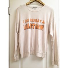 •WILDFOX• I'm Really a Martian Super soft material, not quite as thick as a baggy beach jumper. Perfect condition, worn once. Letters are intentionally faded Wildfox Tops Sweatshirts & Hoodies