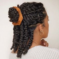 Natural Hair Twists, Pelo Natural, Natural Hair Growth, Natural Hair Puff, Pretty Hairstyles, Braided Hairstyles, Short Twist Hairstyles, Hairstyles For Afro Hair, Ethnic Hairstyles