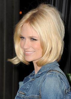 January Jones - hairstyle #BLONDE #short #hair #haircut