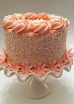Pink buttercream cake.JPG