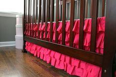 Decorating idea - Ruffled crib skirt