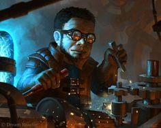 Gnome Artificer by *Vablo #Fantasy #Steampunk