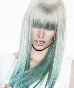 Gray and teal blue hair | Check information about hairstyles here http://dealingsonnet.tumblr.com/post/108282120771/different-options-in-hairstyles