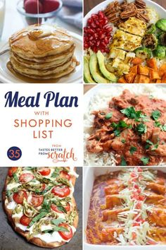 Using weekly meal plans is a great way to save money and cook healthier, and my free meal plans all include a grocery shopping list! Budget Freezer Meals, Cooking On A Budget, Frugal Meals, Healthy Menu, Healthy Crockpot Recipes, Healthy Dinner Recipes, Monthly Meal Planning, Meal Planning Printable, 5 Day Meal Plan