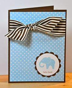 Easy baby shower card