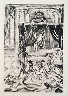 """Title : """"The Sleeping Beauty"""". Published 15 December 1928 to mark the Tercentenary of Charles Perrault's birth. A rare and beautiful copper engraving, selected from a disbound. Paper Art, Fairy Tales, Sleeping Beauty, Copper, Japan, Art Prints, The Originals, Antiques, Painting"""