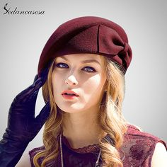 under $30 Female Cute England British Australian Wool Felt Beret Hat Women Lady French Artist Red Black Khaki Flat Cap Bow Boina Feminino – hatstores.net