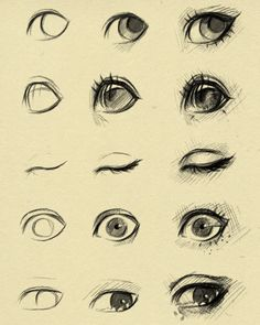 eyes reference 2 by ryky on @DeviantArt