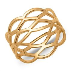 Ladys Hipster Ring verflochten vergoldet SR0367 https://www.thejewellershop.com/ #ring #jewelry #gold #silber #schmuck #silver #flechtoptik