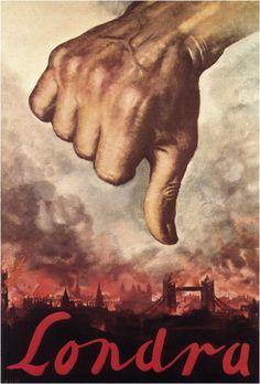 WW II Italian poster, 1940, Gino Boccasile: Londra 16
