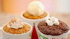 Seasonal Mug Cake - Pumpkin, gingerbread and Hot Chocolate Mug Cakes. it doesn't get much better then that.