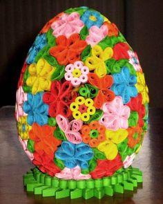 Velikonoční vajíčko - Quilling - Ruční práce - celý návod - MojeDílo.cz