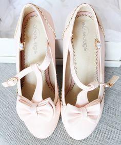 Cute kawaii princess sweet bowknot heels