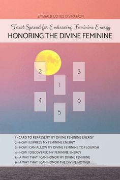 A special Mother's Day tarot spread for honoring the Divine Feminine in all of us! For more free tarot spreads visit: www.emeraldlotus.ca