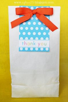 Cute thank you bag to put something inside.