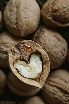 Full of natural and lovable nutrition :) Walnuts! Full of natural and lovable nutrition 🙂 Walnuts! Full of natural and - I Love Heart, With All My Heart, Happy Heart, Love Is All, Humble Heart, Heart In Nature, Heart Art, Love Symbols, Heart Shapes