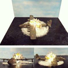 """Incredible!!! """"The end of BV 222 V2"""" diorama. Modeler Bjørn Jacobsen #scalemodel #plastimodelismo #miniatura #miniature #explosion #explosão #plasticmodel #plastimodelo #miniatur #hobby #plastickits #usinadoskits #udk #diorama"""