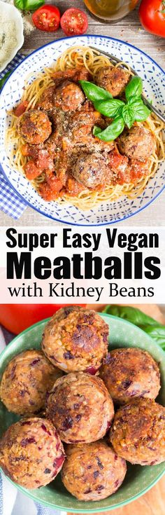 These vegan meatballs are one of my favorite vegan recipes! Together with spaghetti and marinara they make such an awesome and healthy dinner! Find more vegan pasta recipes at veganheaven.org!