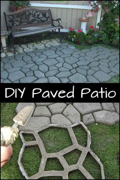 Build a hard surface for your garden with this paved patio Patio Garden, small Patio Garden, Patio G Paved Backyard Ideas, Small Backyard Gardens, Backyard Garden Design, Patio Design, Backyard Landscaping, Patio Ideas, Backyard Pools, Modern Backyard, Landscaping Design