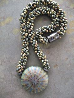 Kumihimo necklace with pendant