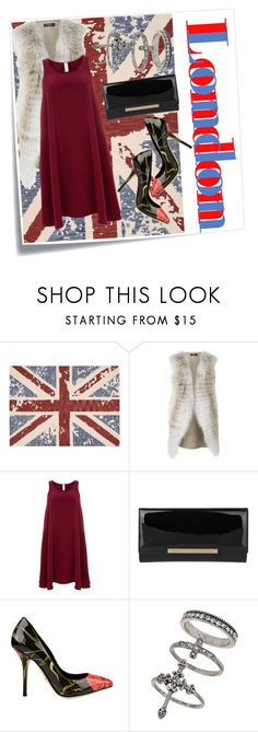 """""""World beauty: London"""" by katreesespieces ❤ liked on Polyvore featuring Post-It, Nourison, Harrods, Finery London, Jimmy Choo, Dolce&Gabbana and Miss Selfridge"""