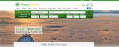 "Jueves FLASH"" Oferta exclusiva para socios Protur Club.  http://protur-hotels.com/ofertas-hoteles-apartamentos/jueves-flash"