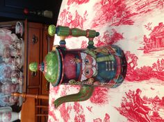 Metal Coffeepot With Nutcracker