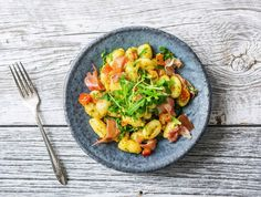 Serrano Ham, Soul Food, Guacamole, Food Inspiration, Vegetarian Recipes, Curry, Menu, Yummy Food, Eruca Sativa