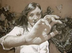 """""""Hideaway"""" - Emily Kearney-Williams, 16-year-old {female foreshortened hand…"""